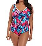 Paradise Palm Wire Free One Piece Swimsuit