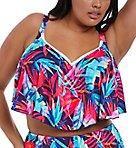 Paradise Palm Underwire Flounce Bikini Swim Top