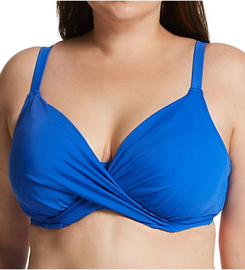 Elomi Magnetic Underwire Wrap Plunge Bikini Swim Top