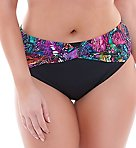 Kaleidoscope Twist Front Brief Swim Bottom
