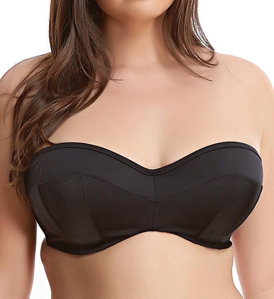 Elomi ES7532 Essentials Underwire Bandeau Bikini Swim Top (Black)
