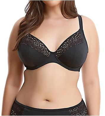 Elomi Indie Crochet Underwire Plunge Bikini Swim Top