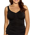 Essentials Ruched Wire Free Tankini Swim Top