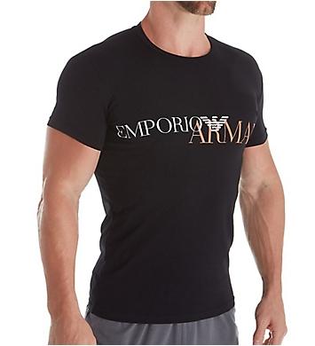 Emporio Armani Mega Logo Slim Fit Short Sleeve T-Shirt