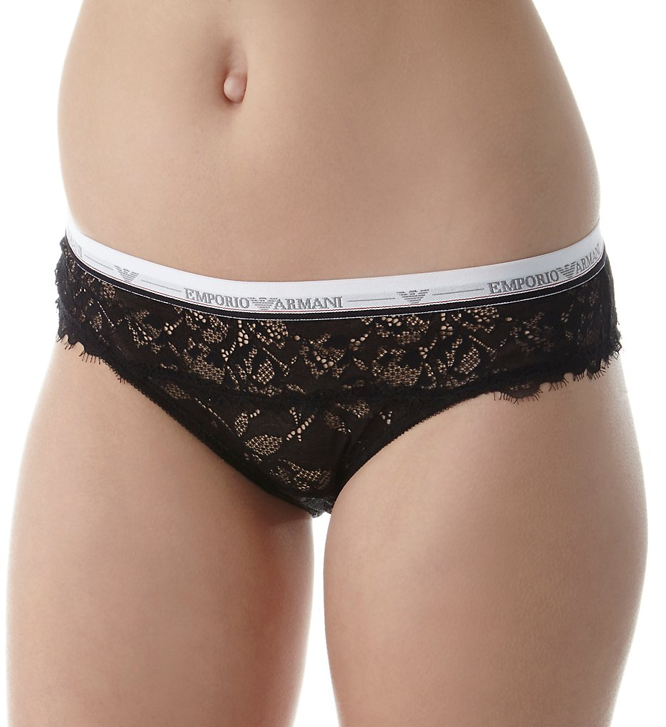 Emporio Armani - Emporio Armani 162525VL Visibility Lace Brief Panty (Black XL)