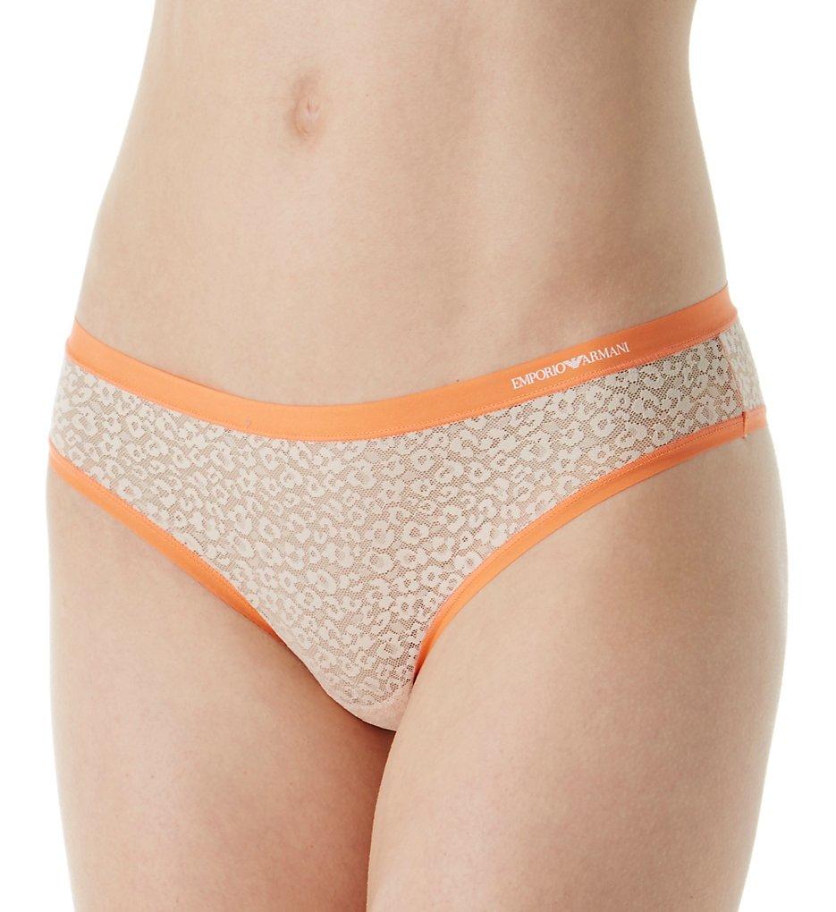 Emporio Armani - Emporio Armani 162948 Sexy Fancy Sauvage Mesh Brasilian Brief Panty (Pale Blush M)