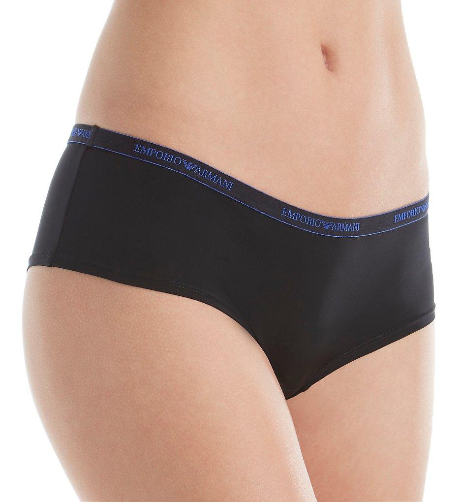 Emporio Armani - Emporio Armani 163225VM Visibility Iconic Microfiber Cheeky Panty (Black M)
