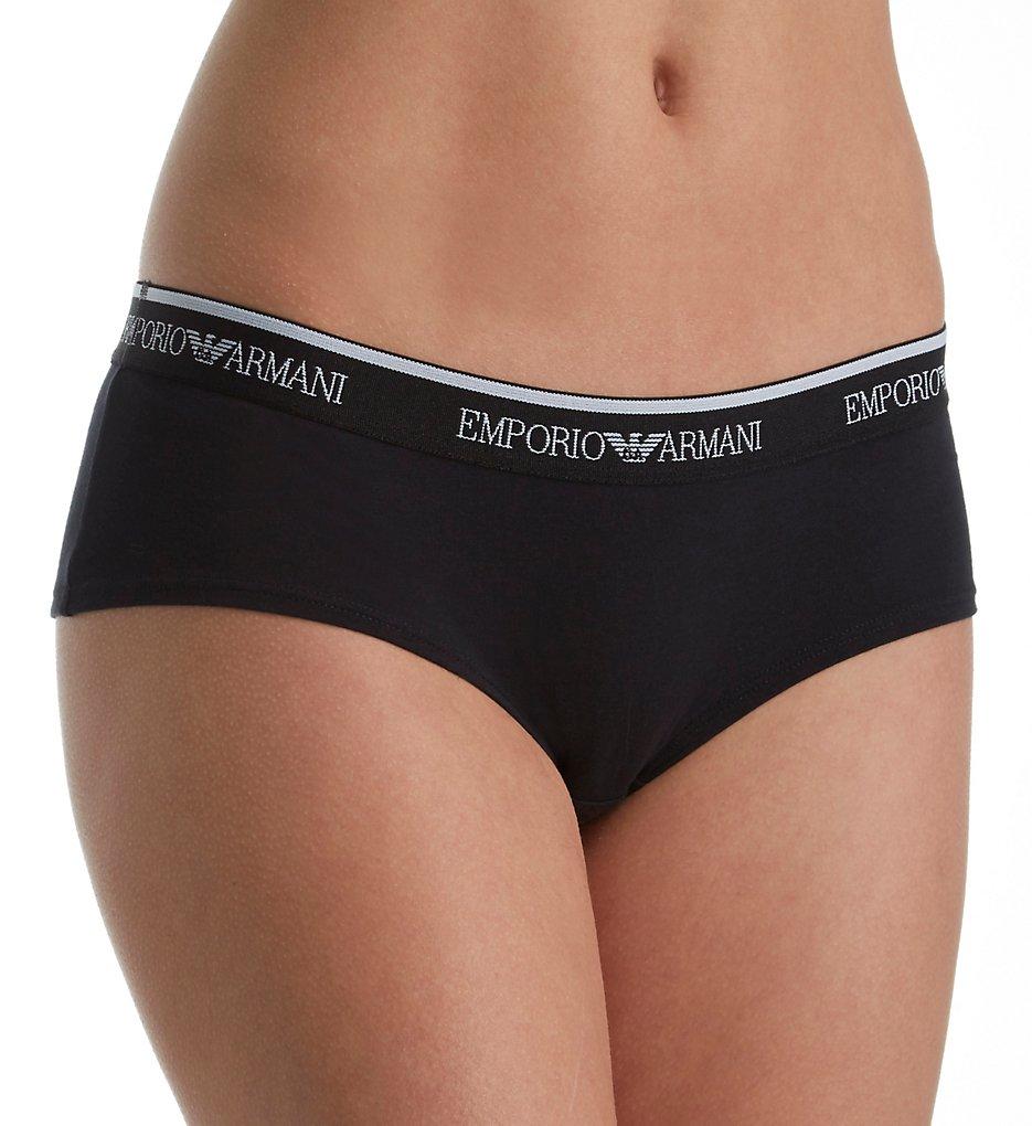 Emporio Armani - Emporio Armani 163225VS Visibility Stretch Cotton Cheeky Panty (Black M)