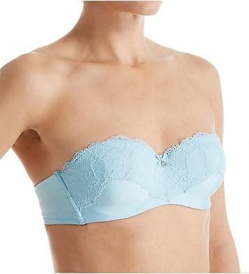 Emporio Armani Sexy Micro & Lace Padded Strapless Bandeau Bra