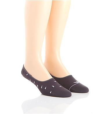 Emporio Armani Colored Stretch Cotton No Show Socks - 2 Pack