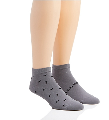 Emporio Armani Allover Eagle Low Cut Socks - 2 Pack