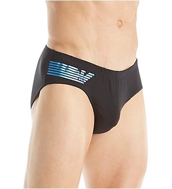 Emporio Armani Shiny Logo Cotton Stretch Bikini Brief