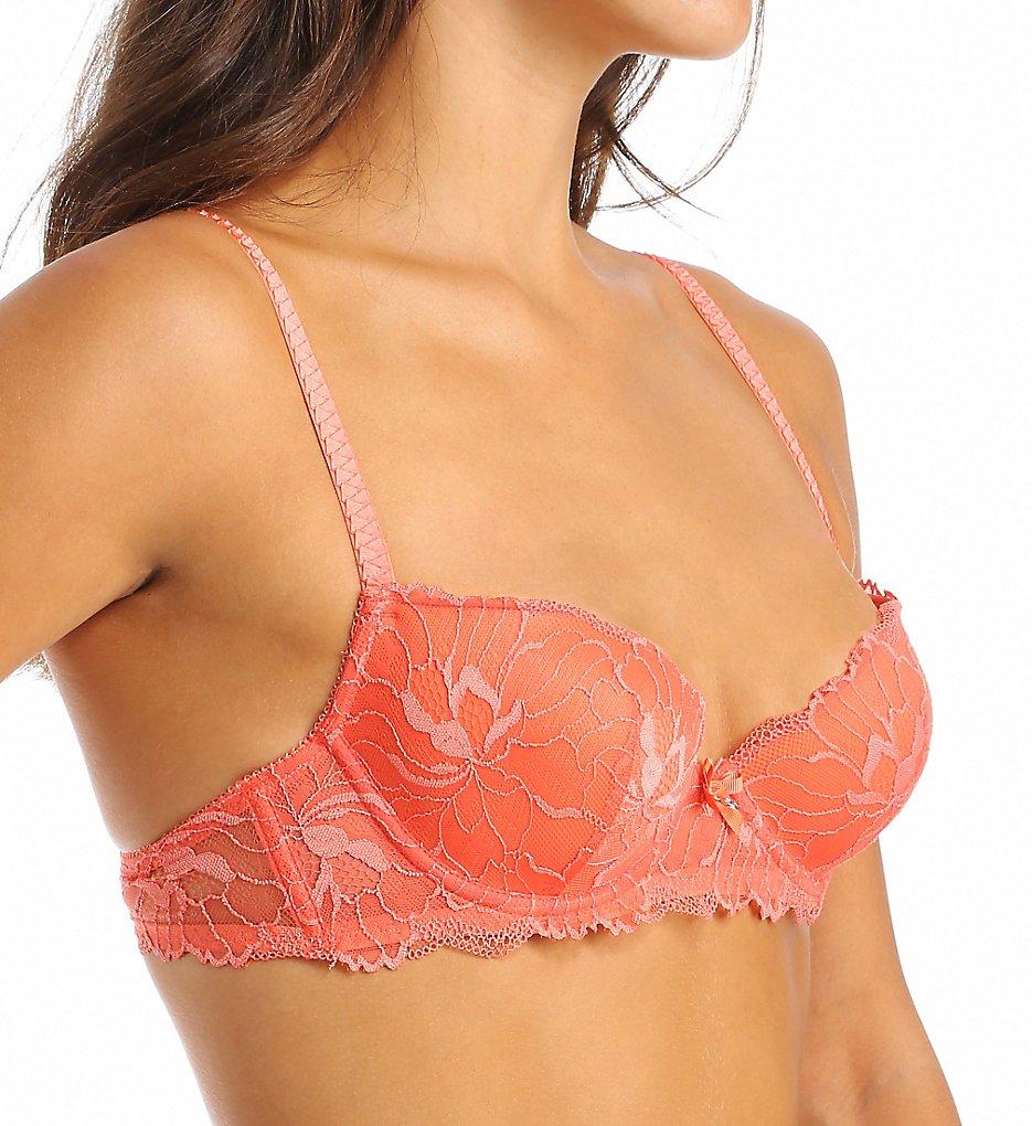 Emporio Armani - Emporio Armani 63438206 Fabulous Floral Lace Padded Balconette Bra (Orange 34B)