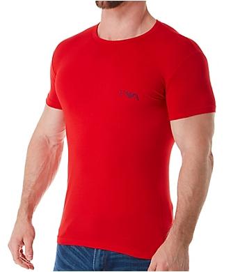 Emporio Armani Monogram Slim Fit Crew Neck T-Shirts - 2 Pack