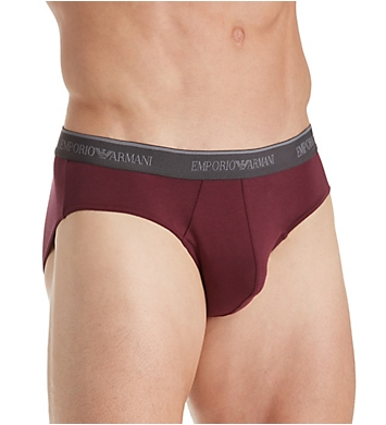 Emporio Armani Stretch Cotton Classic Logo  Brief - 2 Pack