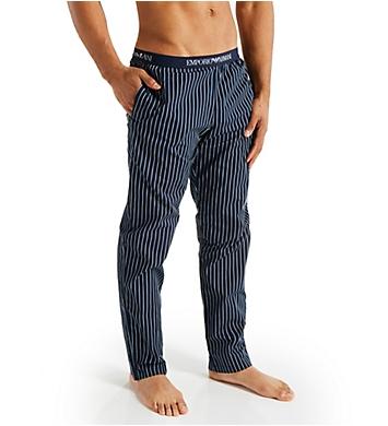 Emporio Armani Yarn Dyed Woven Pants