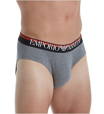 Emporio Armani Cotton Stretch Brief with Multi Color Waistband