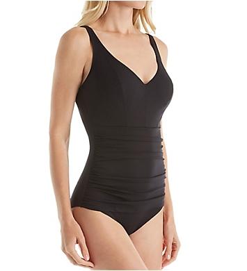 Empreinte Eclat Ruched Waist One Piece Swimsuit
