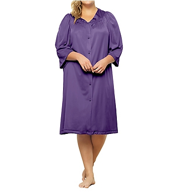 Exquisite Form Coloratura 3/4 Sleeve Button Down Knee Length Robe