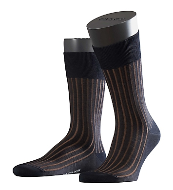 Falke Shadow Mercerized Cotton Ribbed Sock