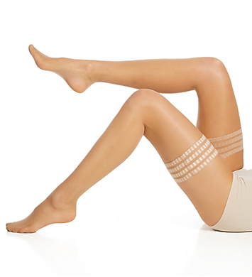 Falke Pure Matt 20 Transparent Stay-Up Thigh Highs