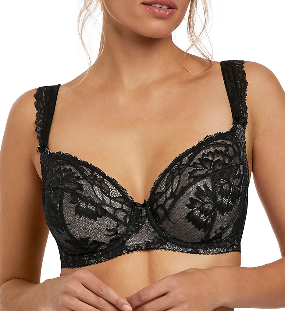 Fantasie - Fantasie FL2062 Bronte Underwire Side Support Plunge Bra (Black 30D)