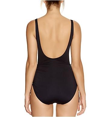 Fantasie Versailles Underwire Gathered Swimsuit in Black Sizes D-G FS5773