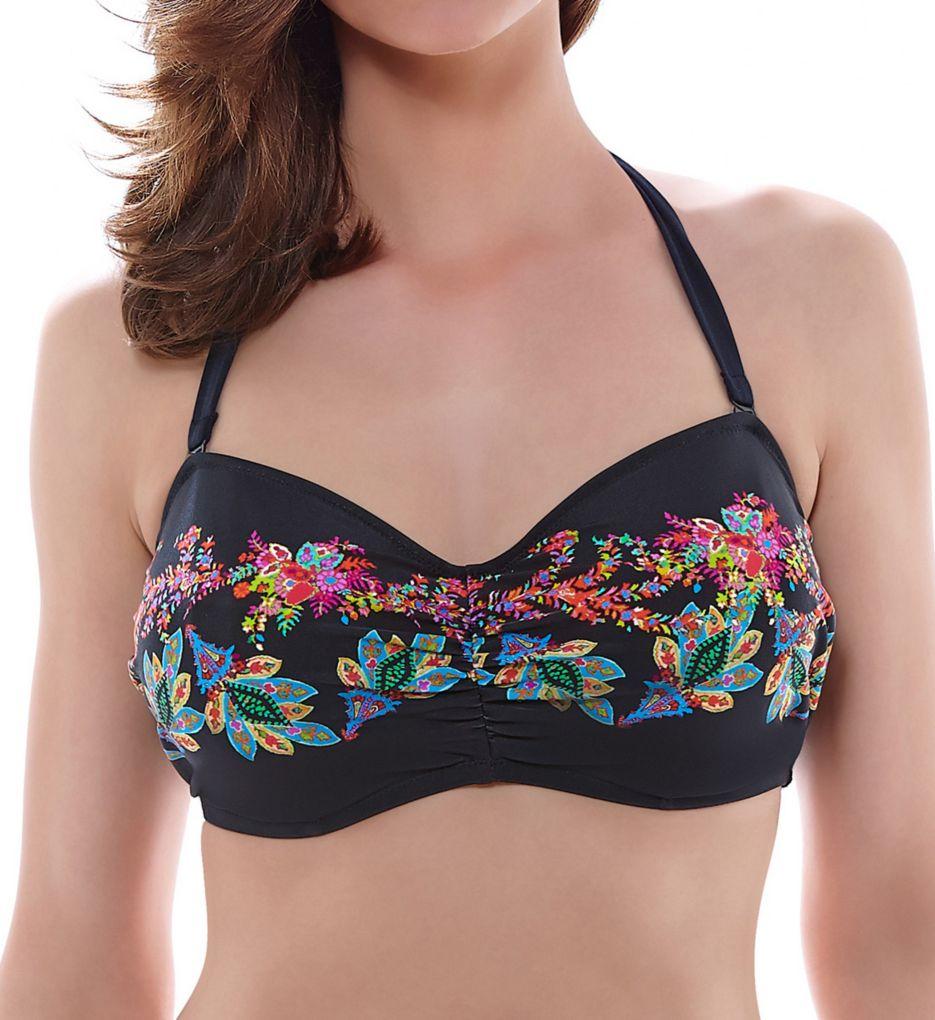 Fantasie Elba Underwire Gathered Bandeau Bikini Swim Top