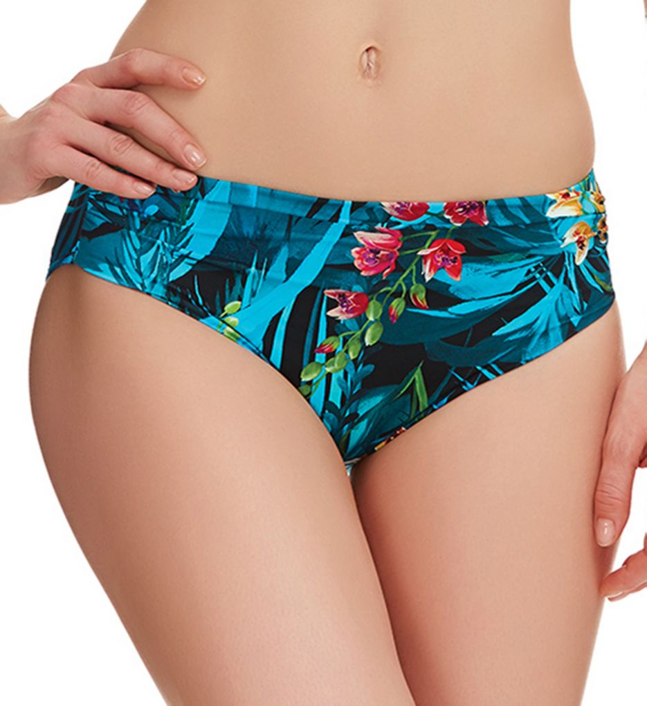 Fantasie Seychelles Mid Rise Gathered Brief Swim Bottom