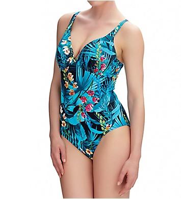 Fantasie Seychelles Underwire Deep Plunge 1-Piece Swimsuit