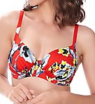 Calabria Underwire Gathered Full Cup Swim Top