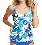 Capri Underwire Adjustable Side Tankini Swim Top