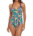 Porto Underwire Gathered Plunge One Piece Swimsuit