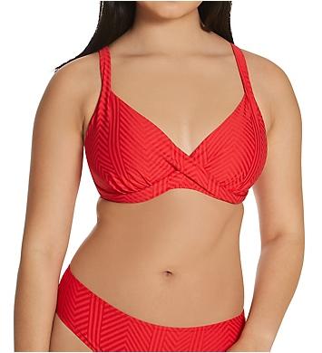 Fantasie Long Island Underwire Plunge Wrap Bikini Swim Top