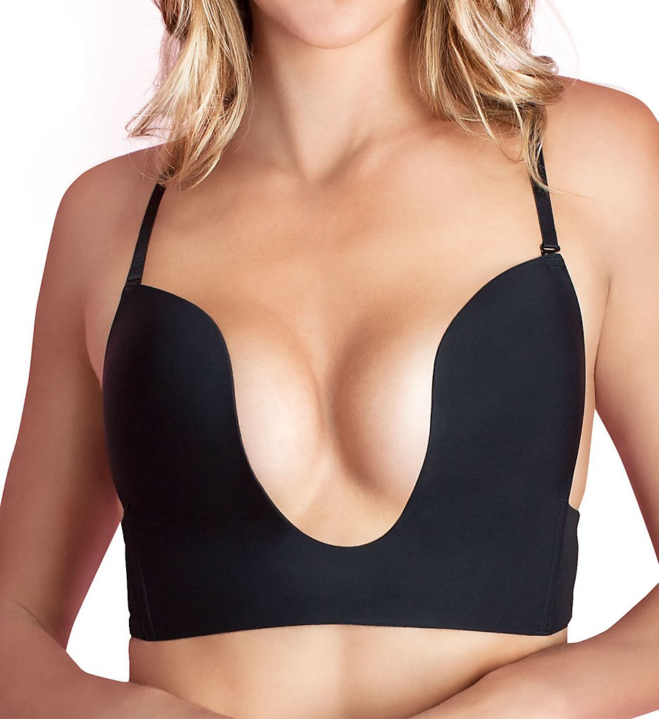 Fashion Forms - Fashion Forms 29678 Convertible Seamless U Plunge Bra (Black 34B)