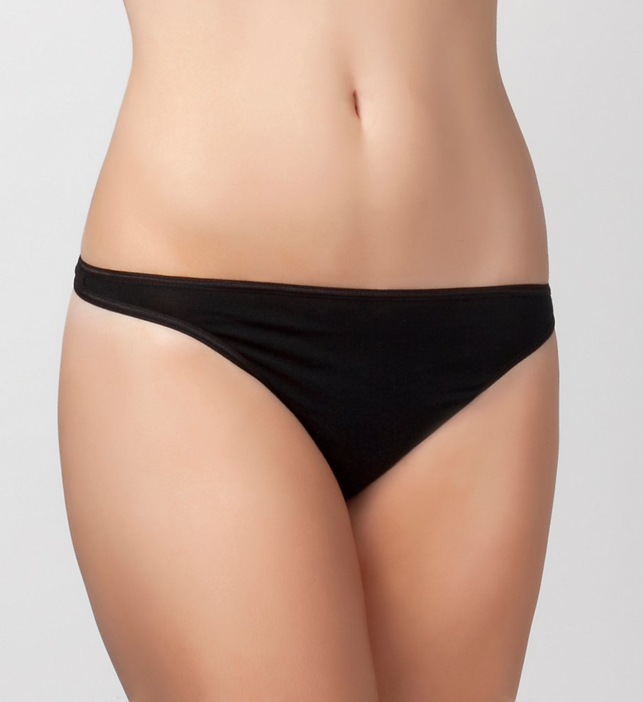 Felina >> Felina 101P So Smooth Low Rise Thong (Black S)