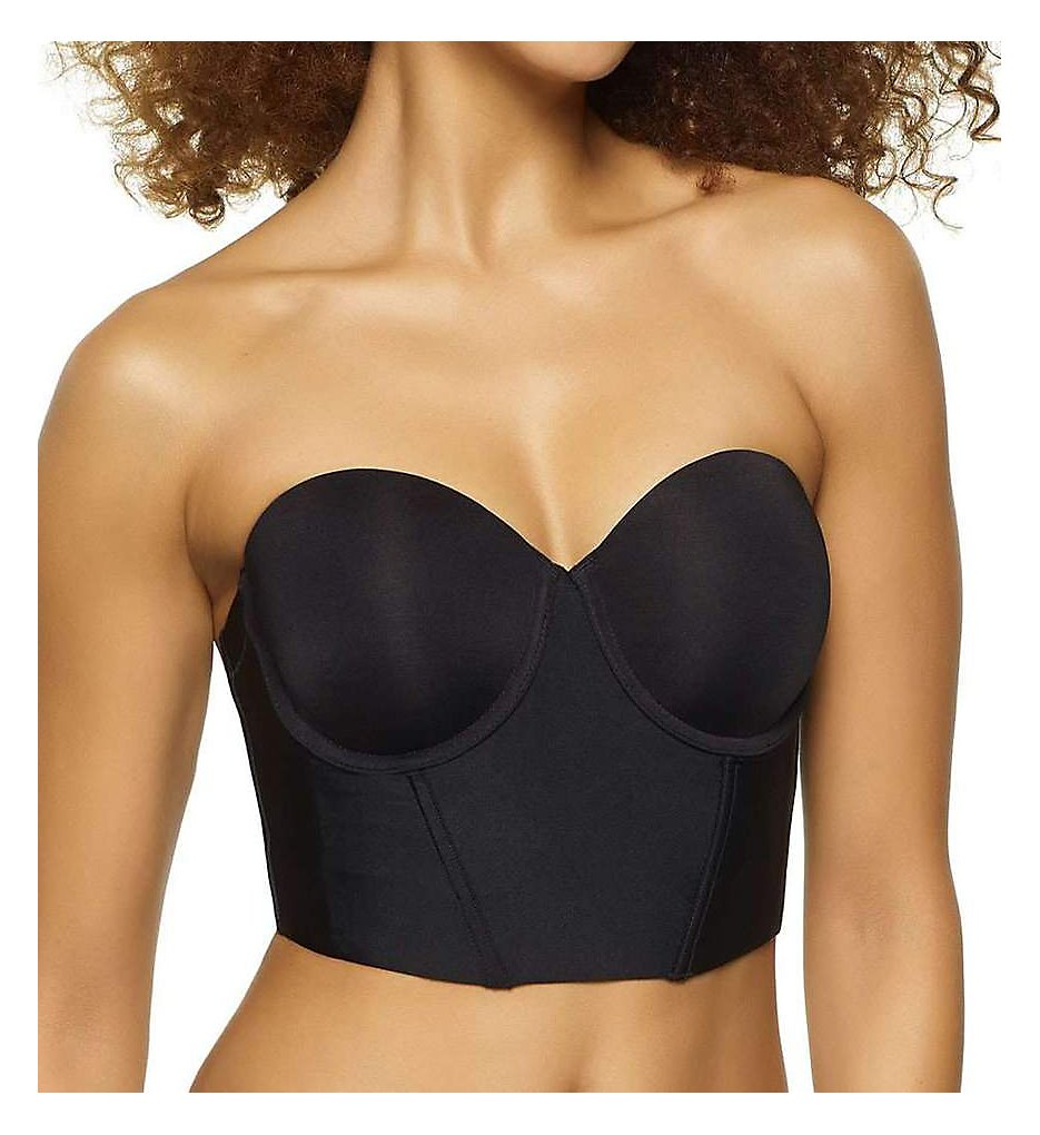 Felina : Felina 380104 Body Veil Low Back Strapless Longline Bra (Black 32C)