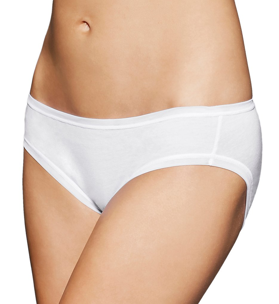 fine lines - fine lines 13RBK34 Pure Cotton Bikini Panties (White XL)