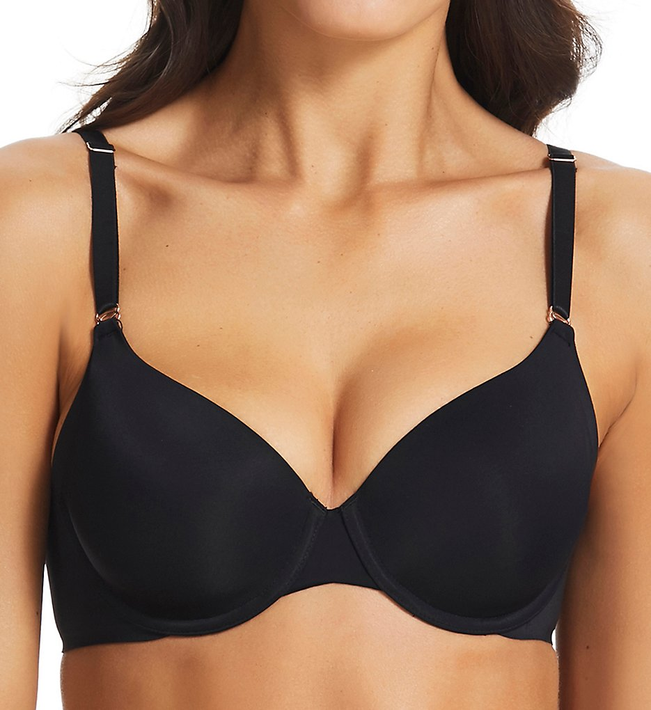 fine lines >> fine lines FO011 Full Coverage Smoothing T-Shirt Bra (Black 34D)