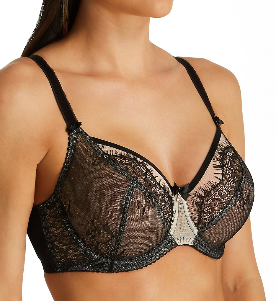Fit Fully Yours - Fit Fully Yours B2382 Ava See-Thru Lace Underwire Bra (Black 30C)
