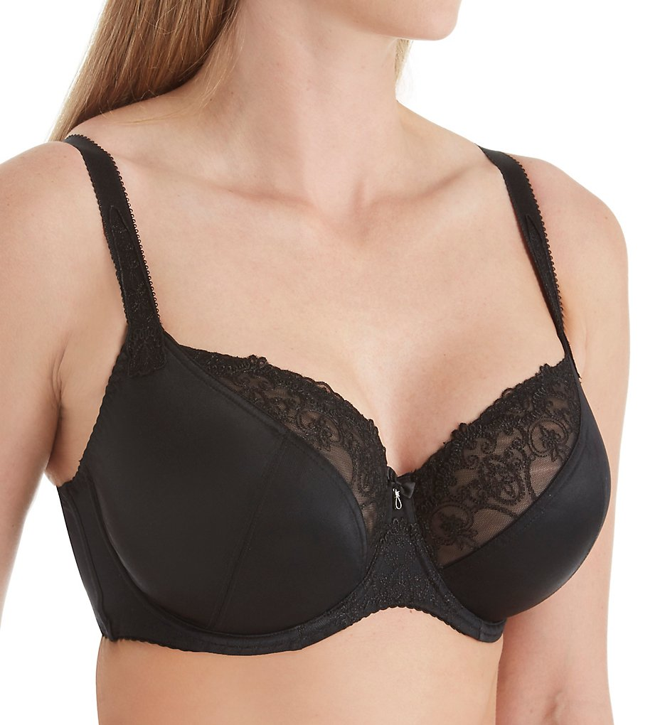 Fit Fully Yours >> Fit Fully Yours B2784 Veronica Multi-Part Full Coverage Bra (Black 30C)
