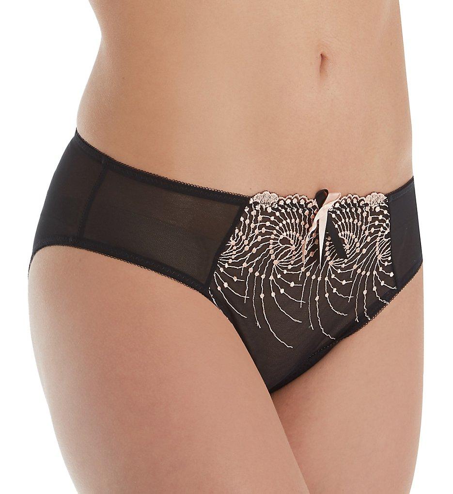 Fit Fully Yours U2272 Nicole Bikini Panty (Black Rose Gold)