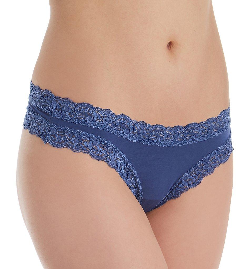 Fleur't - Fleur't 103 Iconic Lace Thong (Urban Blue L)