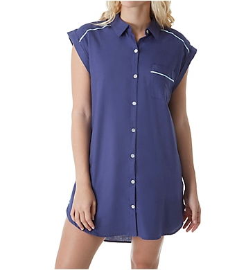 Fleur't Paradise City Button Down Nightshirt