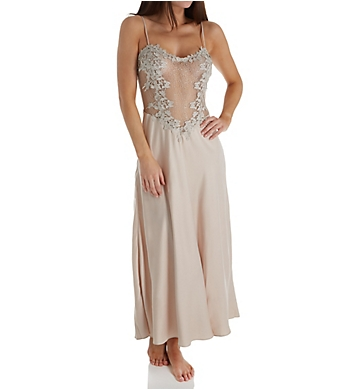 Flora Nikrooz Showstopper Charmeuse Long Gown With Lace
