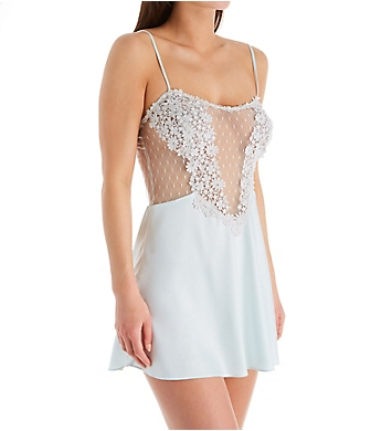 Flora Nikrooz Showstopper Charmeuse Chemise With Venise Lace