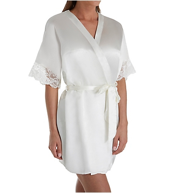 Flora Nikrooz Emma Charmeuse Robe with Stretch Lace