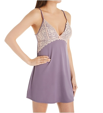 Flora Nikrooz Delia Knit Chemise with Lace