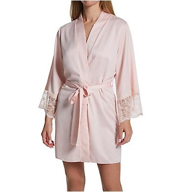 Flora Nikrooz Kit Matte Charmeuse Wrap Robe with Lace
