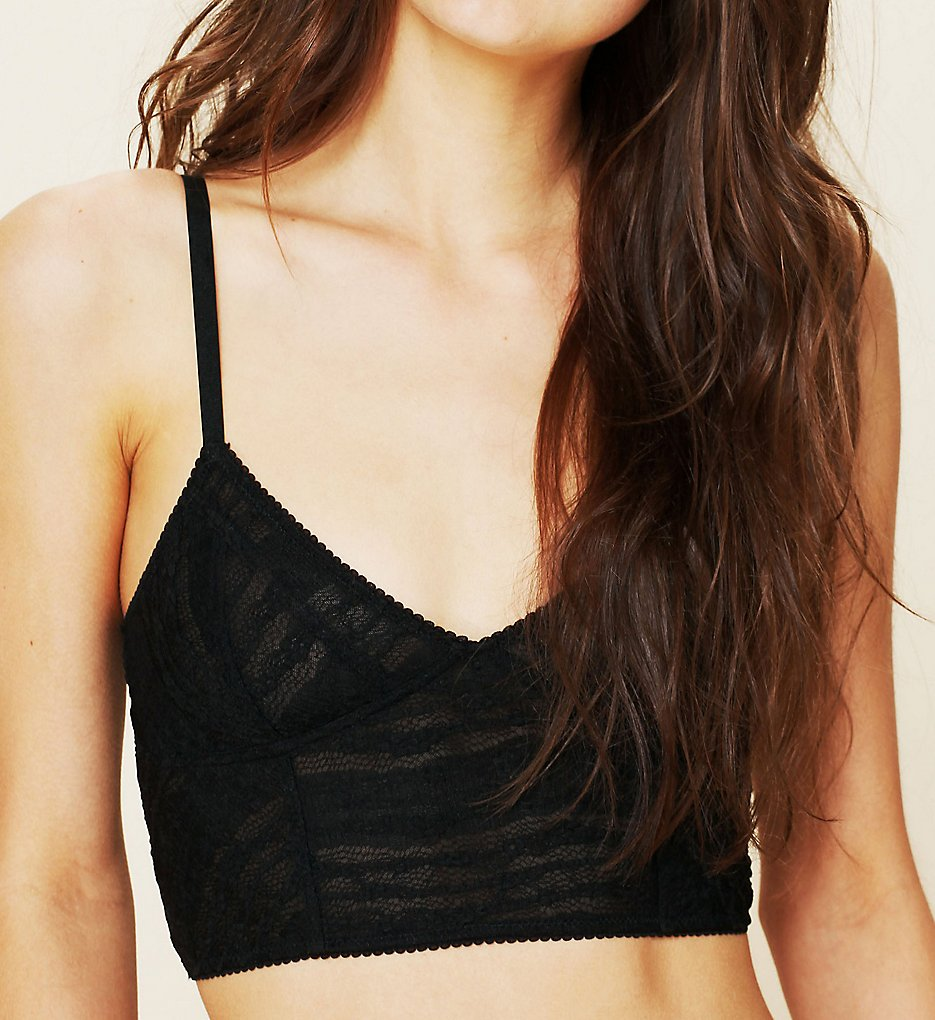Free People 15F151 Stretch Lace Longline Bralette